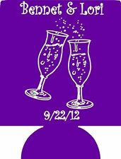 Wedding toast Koozies personalized 3041 lot of 1 to 300 custom can coolies