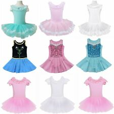 Girls Kids Ballet Skirt Dancing Costume Dancewear Gymnastics Leotard Tutus Dress