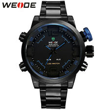 WEIDE LED Analog Digital Wrist Watch Men's Alarm Date Quartz Military Watches