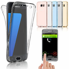 Shockproof 360° Silicone Protective Clear Case Cover For Samsung Galaxy J7