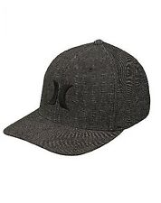 Mens Hurley (Anthracite) Blk Suits Outline Flexfit Hat