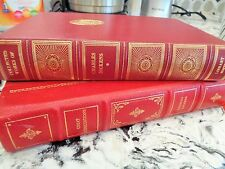 Franklin Library Red Leather Charles Dickens Great Expectations Decorating