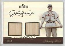 2011 Topps Tribute Dual Relic #TDR-JM Johnny Mize St. Louis Cardinals Card