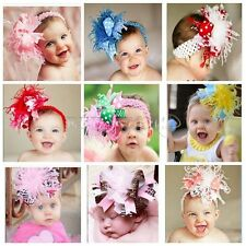 1pc Flower Kids Baby Infant Girl Headband Headwear Big Hair band Accessories