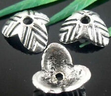 Free Ship 60Pcs Tibetan Silver Nice Flower Bead Caps Findings 10mm