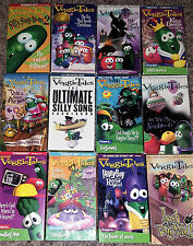 Lot of 12 VEGGIE TALES VHS