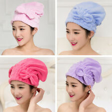 Bath Shower Multi-color Drying Wrap Bow Quick Dry Cap Hair Towels