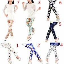 Lovely Baby Kids Girls Quality Soft Slim Pants Stretch Leggings Trousers Bottoms