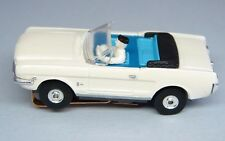 HO DETROIT FORD MUSTANG CONVERTIBLE - HO Slot Car - MINT - NOS - WHITE/ BLUE