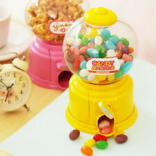 Mini Candy Machine Bubble Gumball Dispenser Coin Bank Kids Toy for Gumballs FE