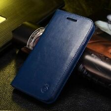 Genuine Real Leather Case Flip Card Wallet Stand Skin Cover For iPhone/Samsung N