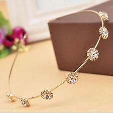 Women Fashion Metal Rhinestone Head Chain Jewelry Headband Head Piece Hair Band