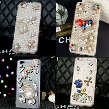 New Girls Diamond Bling Lovely Pearl Crystal Clear Case Cover For Various Phones