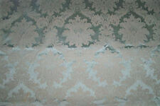 LEE JOFA KRAVET LOTUS MEDALLIONS SATIN DAMASK FABRIC 3 YARD REMNANT CREAM MINT