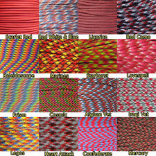 Red & Multicolor 550lb Commercial Grade Paracord Parachute Rope 10' 25' 50' 100'