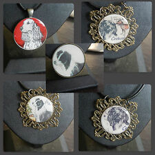 Beagles, Hound dogs, Spaniel, Border Collie Handmade resin images + pendants