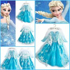 *Kids Girls Dresses Disney Elsa Frozen dress costume Princess Anna party Dresses