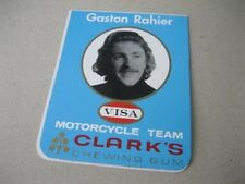 Rare 1970's GASTON RAHIER STICKER -  Paris Dakar motorcycle motocross decal MX