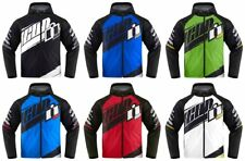 Icon Mens Team Merc Armored Hooded Softshell Motorcycle Riding Jacket 2015
