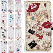 Magnetic Bling Luxury Diamonds Crystal PU Leather wallet flip Slots Cover Case 8