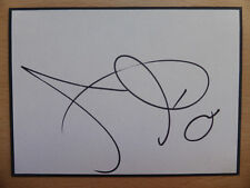 Hand Signed Football Index Cards *****D***** Page 1
