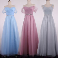 Chiffon Lace Formal Party Bridesmaid Dresses Evening Prom Dress Ball Gown Dress