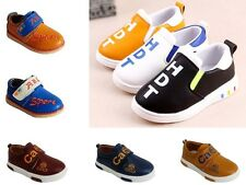 Baby Boys Flat Pumps Loafers School Walk Travel Casual Trainer Boots Shoes Size