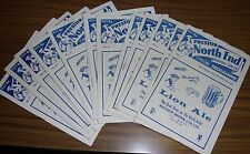 Preston North End 15 Home Programmes 64/65 ~ Played in Division Two @ 99p each..