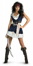 NEW Licensed Pirates of The Caribbean DELUXE ADULT SASSY JACK SPARROW COSTUME
