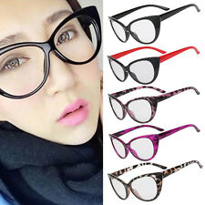 Retro Sexy Women Eyeglasses Fashion Frame Cat Clear Lens Ladies Eye Glasses NE