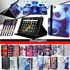 "Folio Stand Leather Cover Case For Various 7"" 8"" 9"" 10"" Polaroid Tablet + STYLUS"