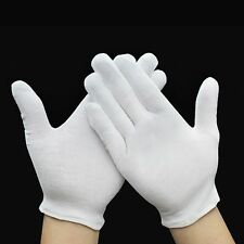 12 Pairs White Inspection Lisle Cotton Work Gloves Coin Jewelry Lightweight HOT