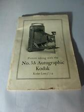 Picture taking with the No. 3A Autographic Kodak Kodar Lens f.7.9 booklet