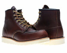 Red Wing Heritage 8138 6-Inch Brown Leather Classic Moc Toe Boots 08138