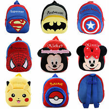 Cute Boys Girls Kids Nursery Baby Toddler Superhero Backpack Schoolbag Small Bag
