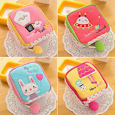 Alluring Cartoon Sanitary Napkin Towel Pads Small Bag Purse Holder Organizer New