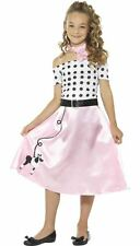 50'S POODLE GIRL COSTUME Child Rock and Roll Book Week Fancy Dress Outfit 24668