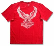 Harley Davidson Trunk LTD Icon Winged Eagle Mens Red T Shirt New Official NWT