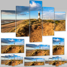 Canvas Picture Wall Tattoo Art Print Stretcher Frame Sea View Beach Lighthouse