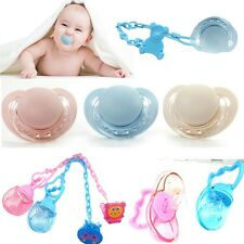 Newborn Baby Feeding Tool Infant Dummy Soother Pacifier Cartoon Pacifier Chain