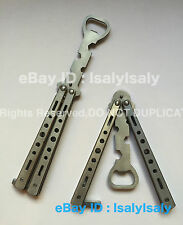 Bottle Opener Knife Butterfly Balisong Trainer Opener Butterfly Knife Sliver