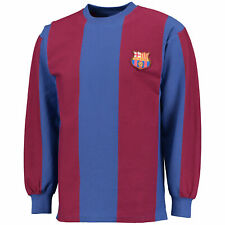 Score Draw Retro Mens Football Barcelona 1974 Long Sleeved Shirt Jersey Top