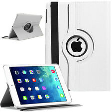 WHITE iPad Air 1 2 Mini 2 3 Pro 9.7 Case Shockproof Smart Leather Rotating Stand