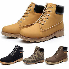 Mens Lace Up Martin Tactical Hunting Boots Boots Winter Combat Work Ankle Shoes