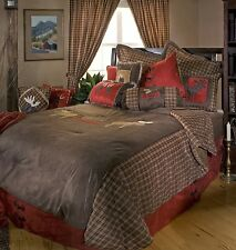NEW  MOOSE PLAID COMFORTER BEDDING SET SOUTHWESTERN LODGE SIZE TWIN QUEEN KING