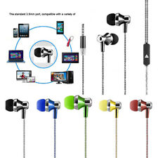 Durable 3.5mm Braided Retro Stereo In-Ear Earphone Headphone Headset Earbuds