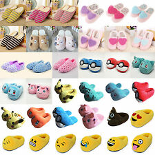 Cute Winter Warm Men Womens Casual Plush Shoes Soft Indoor House Home Slippers