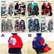 New Winter Women's Man's Jacquard Long Cashmere Wool Soft Warm Wrap Shawl Scarf