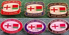 England v Belarus 2010 World Cup Qualifier 14 October 2009 Oval/Oblong Pin Badge