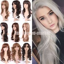 Sexy Ladies Womens Hair Wig Long Straight Hair Cosplay Full Wigs Black Brown Wig